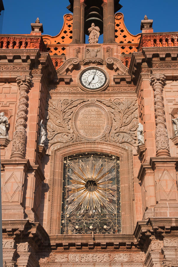 Dettaglio della cattedrale di San Luis Potosi fotografia stock