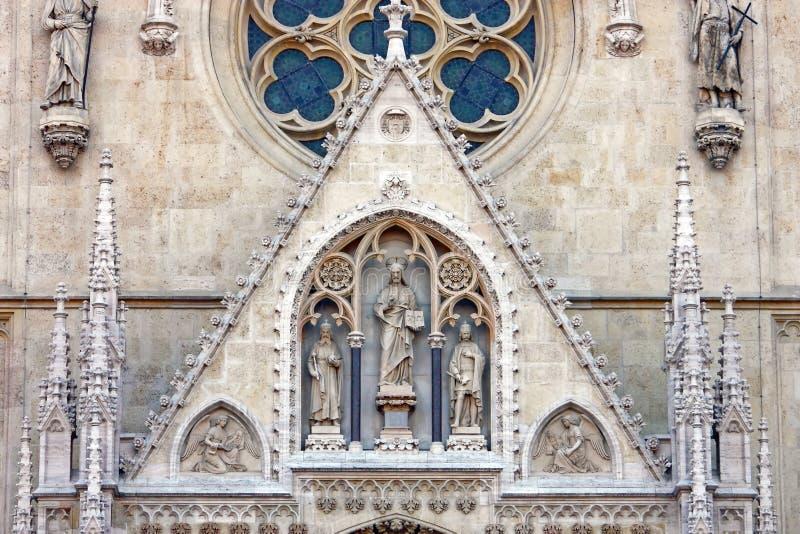 Dettaglio della cattedrale a Zagabria, Croazia immagine stock
