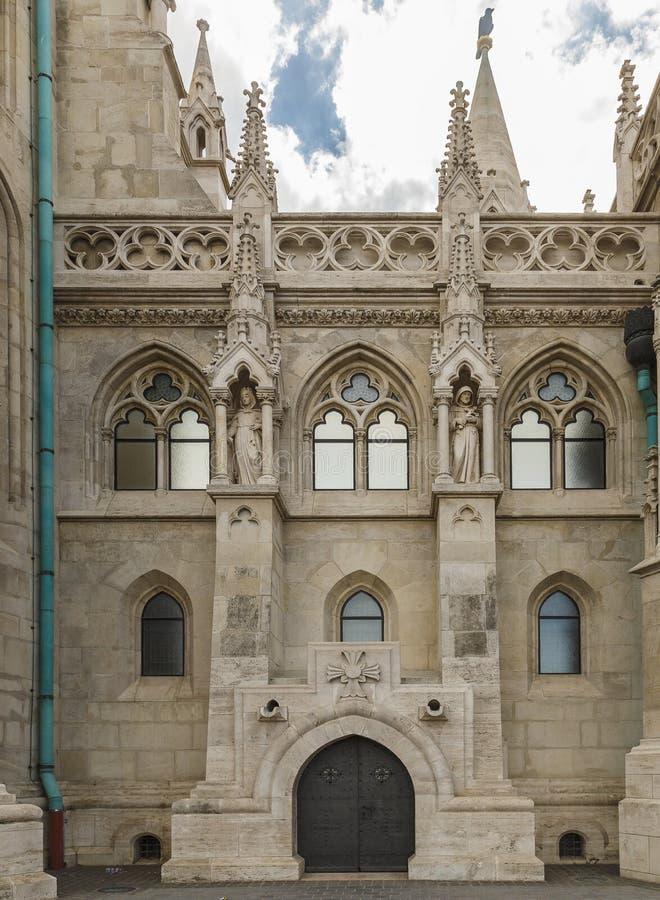 Dettaglio della chiesa della st Matthias a Budapest fotografia stock