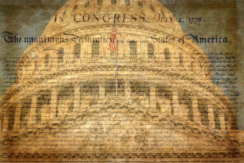 Dettaglio della costruzione del Campidoglio degli Stati Uniti a Washington D C con la dichiarazione famosa fotografia stock libera da diritti