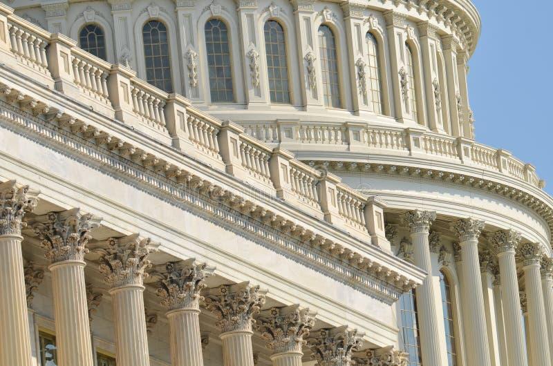 Dettaglio della cupola della costruzione del Campidoglio degli Stati Uniti, Washington DC fotografia stock libera da diritti