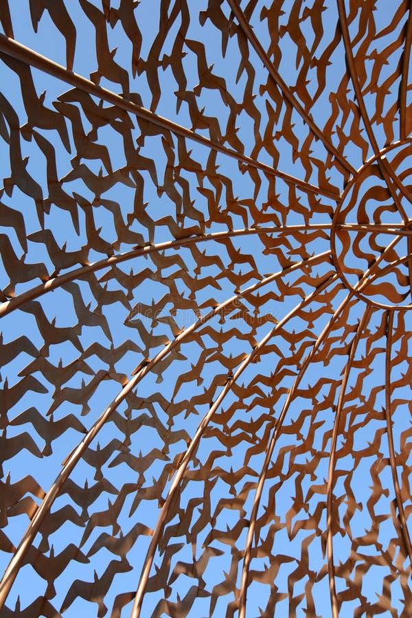 Dettaglio della cupola delle anima Memoriale di HMAS Sydney Geraldton Australia occidentale l'australia fotografia stock libera da diritti