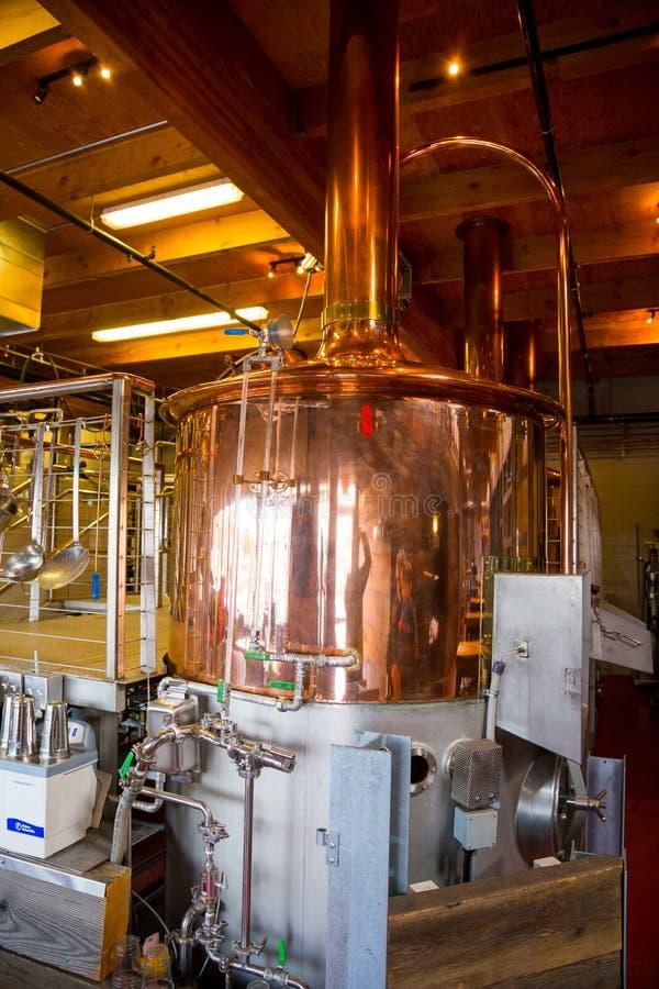 Dettaglio della fabbrica di birra di nodo fotografie stock libere da diritti