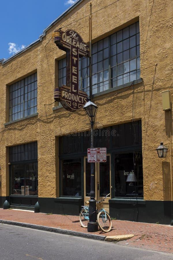 Dettaglio della facciata di una costruzione nel quartiere francese nella città di New Orleans, Luisiana immagine stock libera da diritti