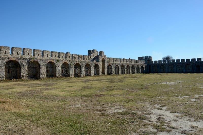Dettaglio della fortezza antica di Bashtova fotografia stock