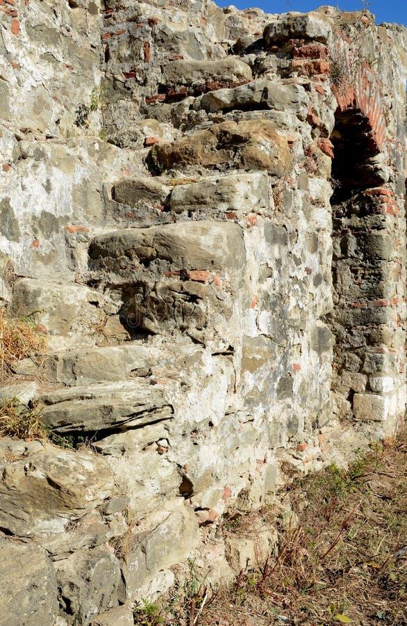 Dettaglio della fortezza antica di Bashtova immagini stock libere da diritti