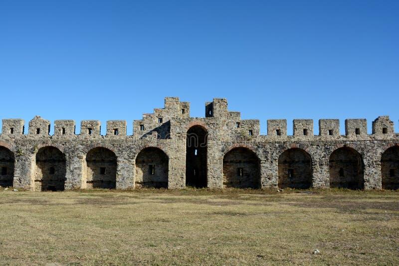 Dettaglio della fortezza antica di Bashtova fotografia stock libera da diritti