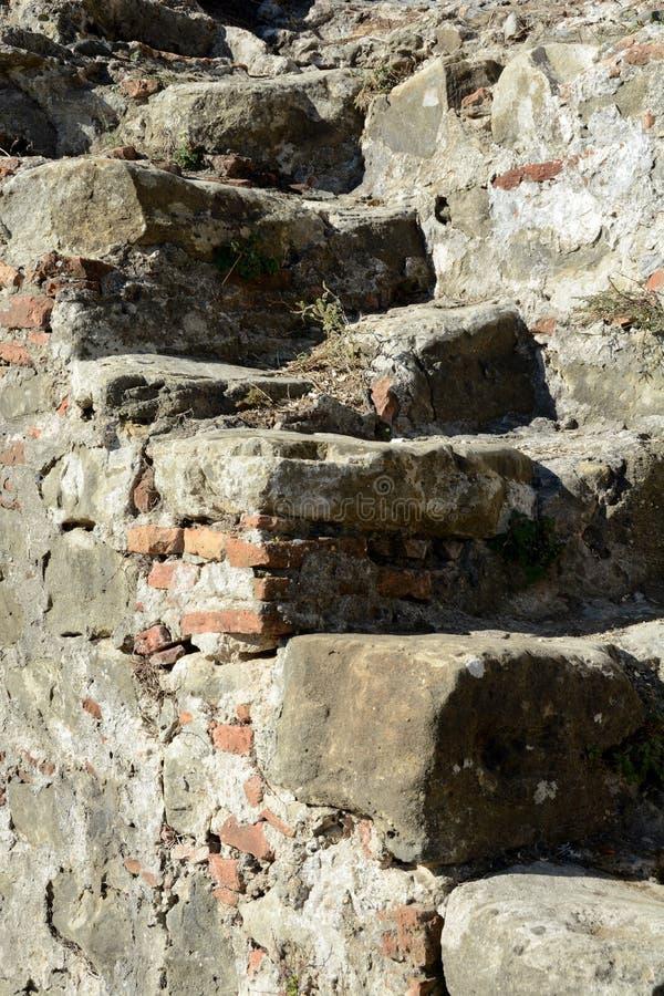 Dettaglio della fortezza antica di Bashtova fotografie stock libere da diritti