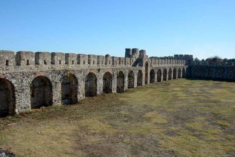 Dettaglio della fortezza antica di Bashtova fotografie stock