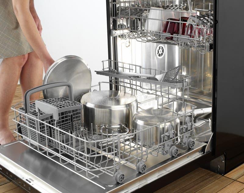 Dettaglio della lavastoviglie fotografia stock libera da diritti