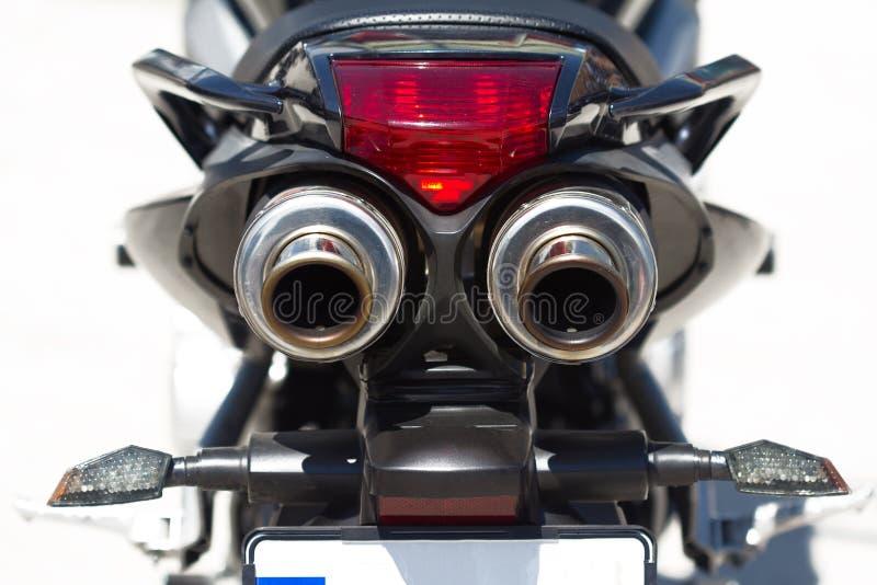 Dettaglio della parte posteriore del motociclo fotografie stock