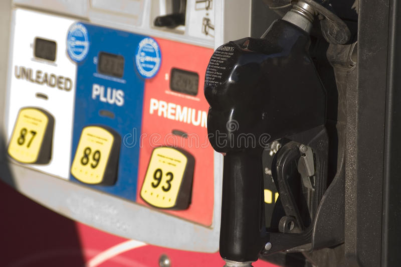 Dettaglio della pompa del carburante fotografia stock