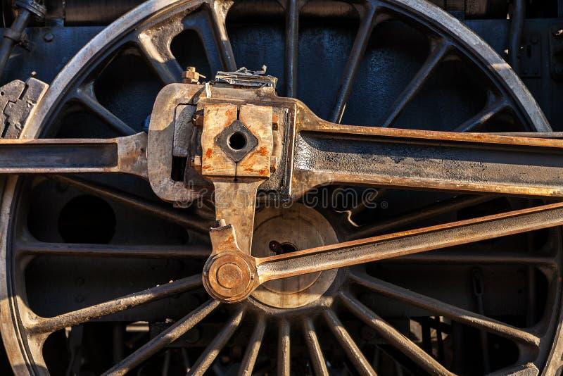 Dettaglio della ruota locomotiva fotografie stock