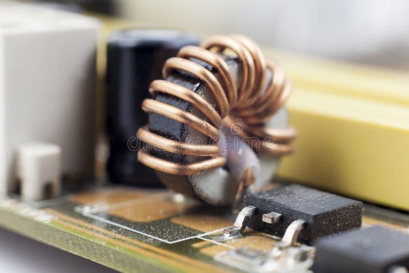 Dettaglio della scheda madre del computer fotografia stock