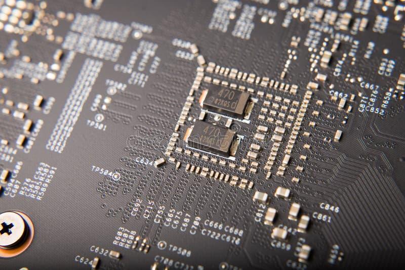 Dettaglio della scheda video moderna del computer fotografia stock libera da diritti