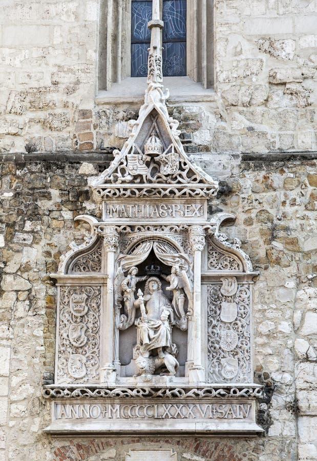 Dettaglio della st Matthias Church a Budapest immagine stock libera da diritti