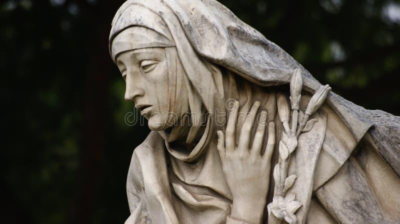 Dettaglio della statua di marmo fotografia stock