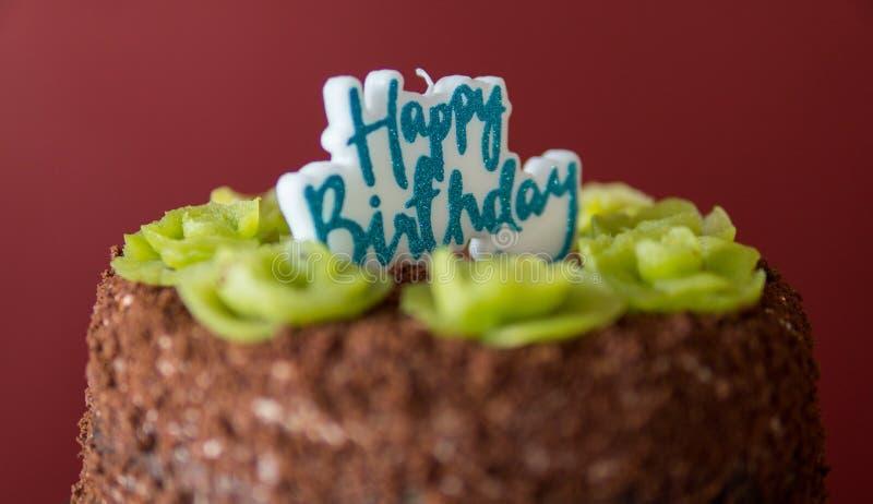 dettaglio della torta di compleanno fotografia stock libera da diritti