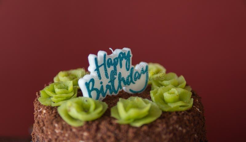 dettaglio della torta di compleanno fotografie stock