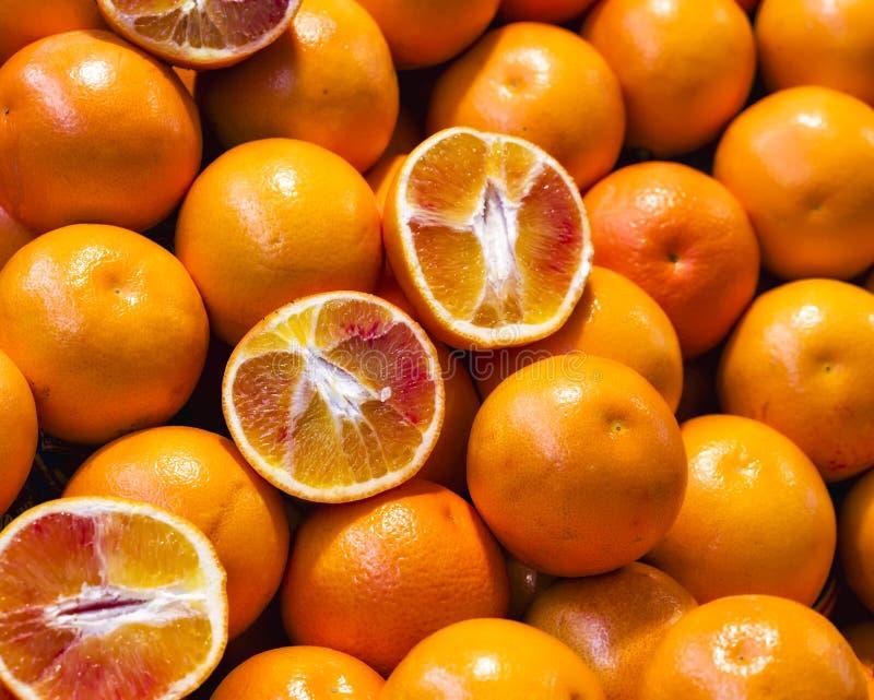 Dettaglio delle arance fresche immagini stock