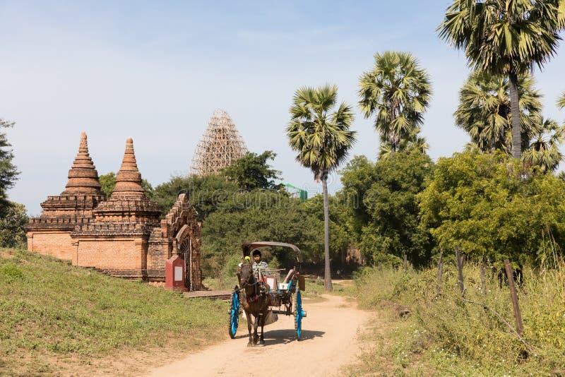 Dettaglio delle tempie antiche in Bagan, Myanmar (Birmania fotografie stock