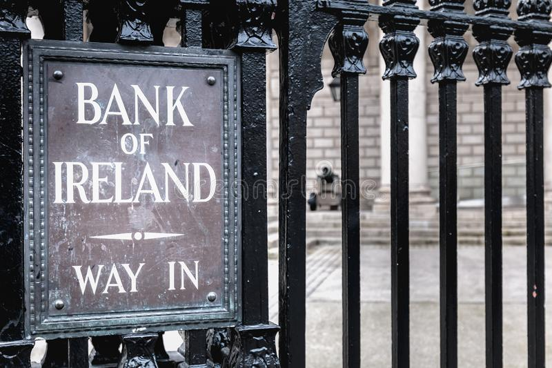 Dettaglio di architettura di Bank of Ireland a Dublino fotografie stock