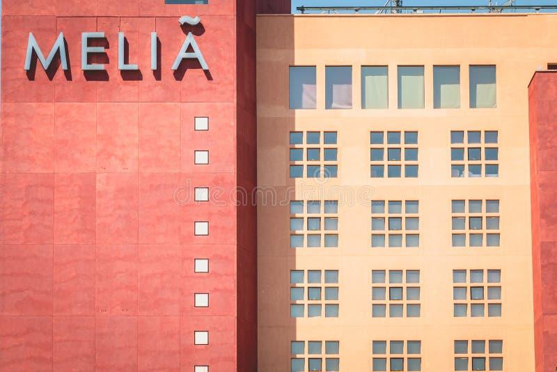 Dettaglio di architettura dell'hotel di lusso di SCILLA fotografia stock libera da diritti