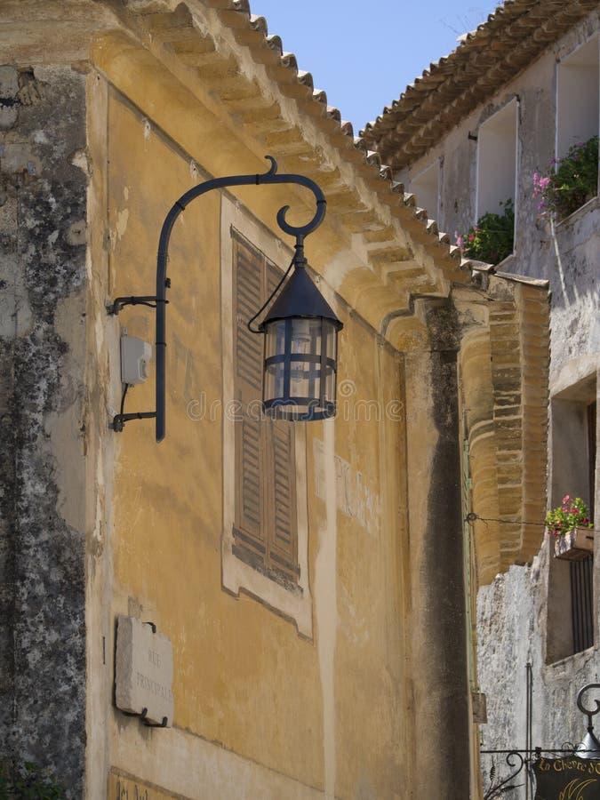 Dettaglio di architettura nel villaggio di Èze, Francia fotografia stock libera da diritti
