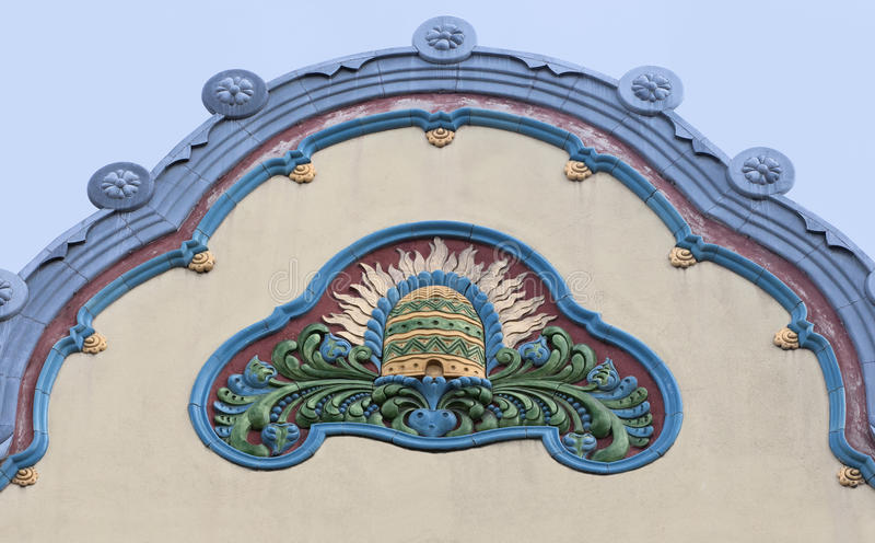 Dettaglio di architettura in Subotica, Serbia immagini stock