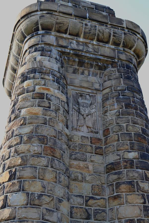 Dettaglio di Bismarckturm alla città di Hagen, Germania fotografie stock libere da diritti