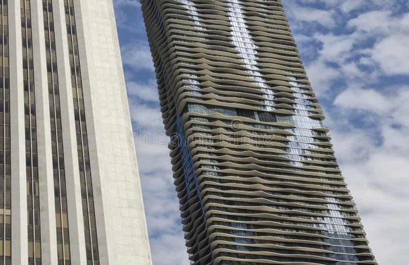 Dettaglio di Chicago Skyine fotografia stock