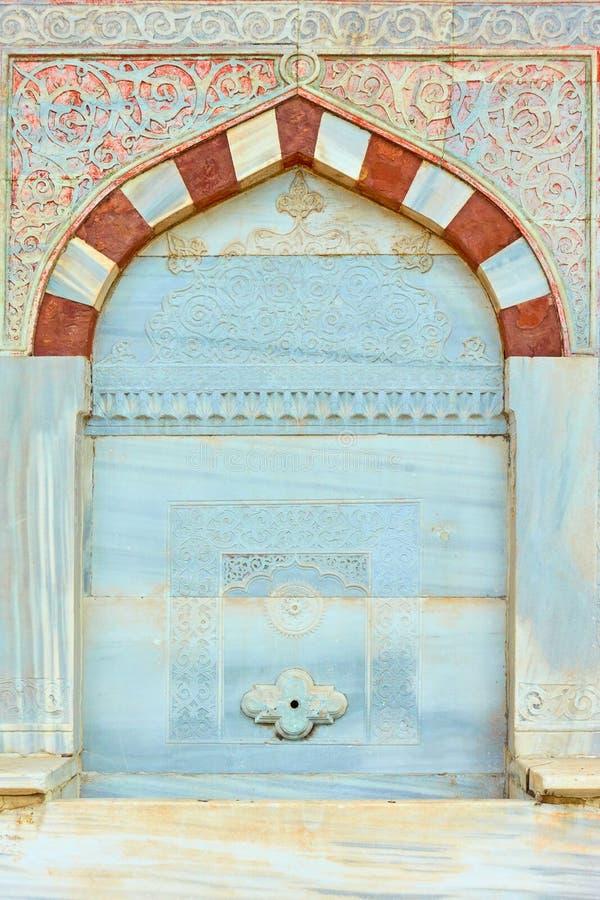 Dettaglio di He fontana di Ahmed III fotografia stock libera da diritti