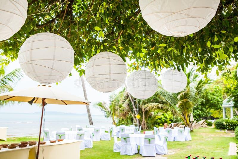 Dettaglio di messa a punto di nozze immagini stock libere da diritti