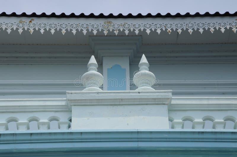 Dettaglio di Sultan Ismail Mosque in Muar immagine stock libera da diritti