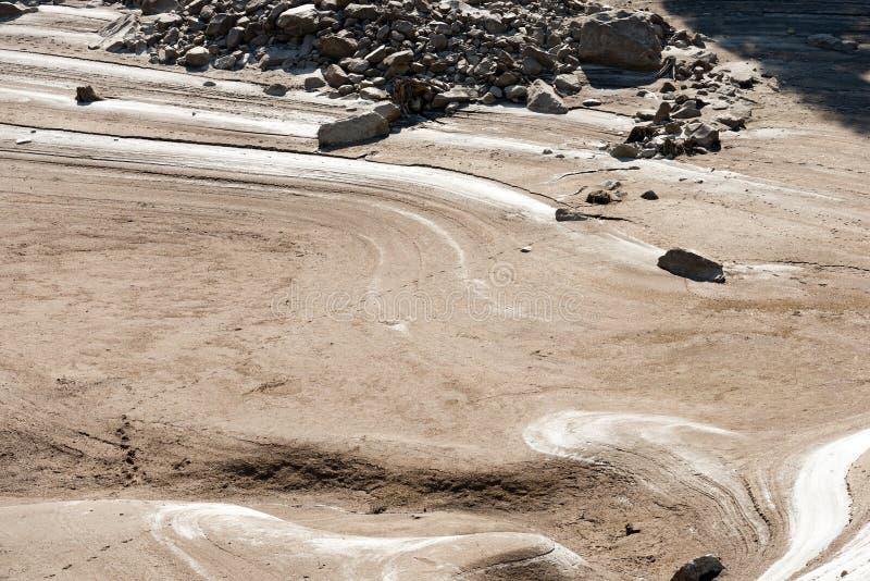 Dettaglio di un lago asciutto - concetto di siccità immagine stock