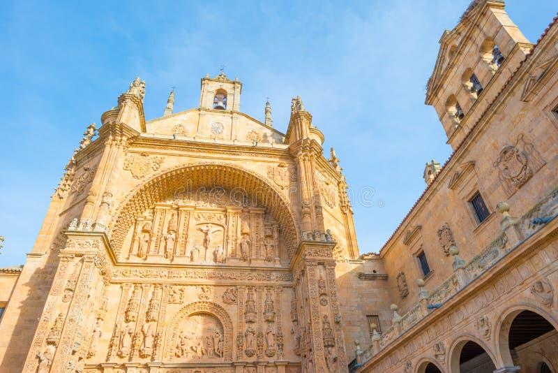 Dettaglio di un monastero domenicano a Salamanca fotografie stock libere da diritti