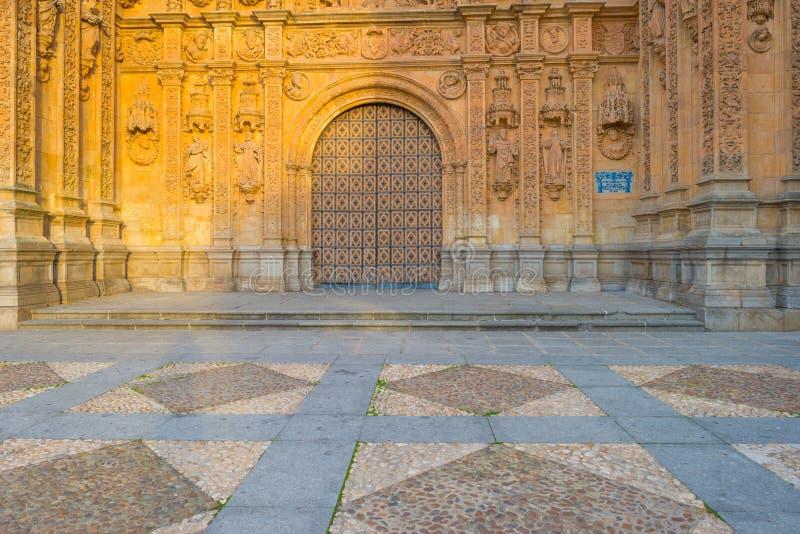 Dettaglio di un monastero domenicano a Salamanca fotografia stock