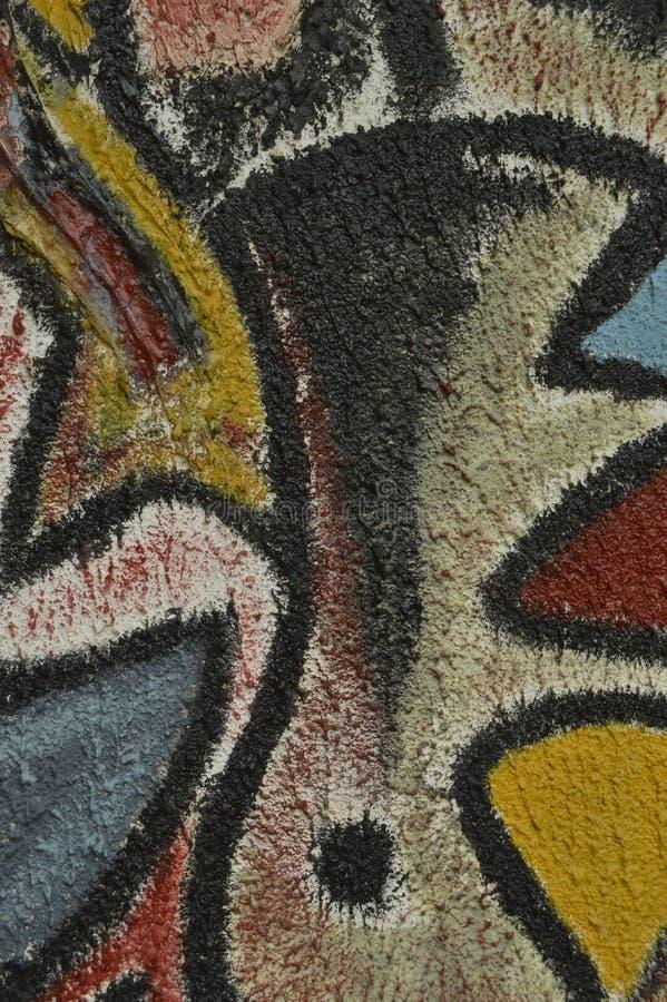 Dettaglio di un murale dipinto fotografie stock libere da diritti