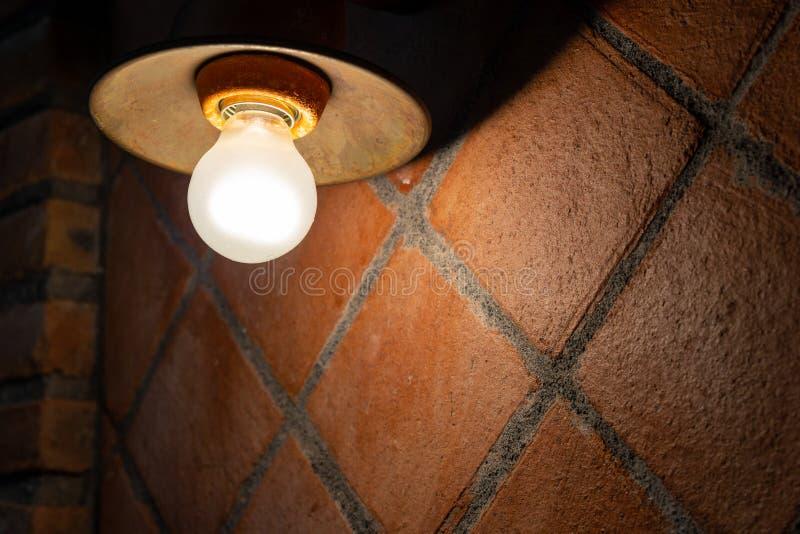 Dettaglio di un palo della luce immagine stock