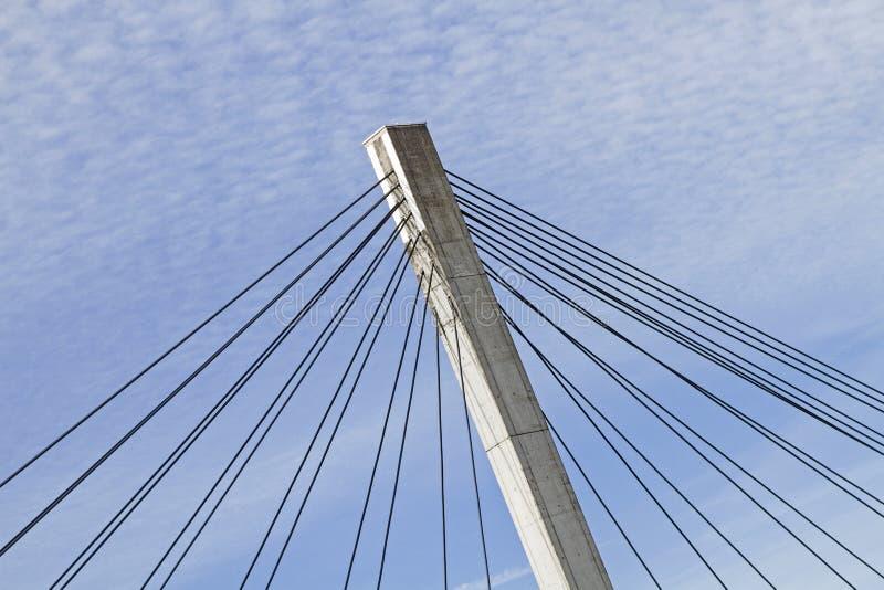 Dettaglio di un ponte sospeso fotografie stock