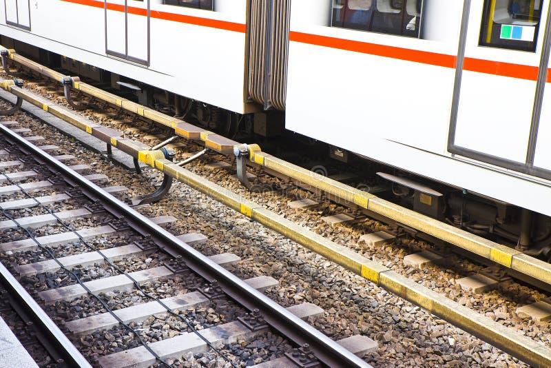 Dettaglio di una ferrovia austriaca immagine stock libera da diritti
