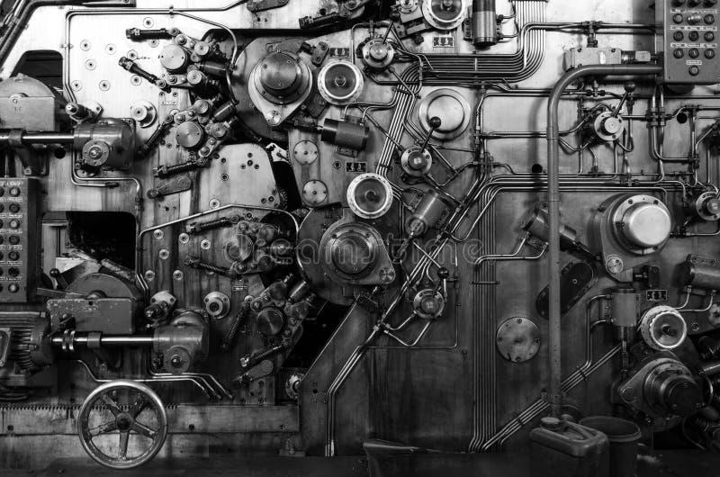 Dettaglio di una macchina arrugginita immagini stock libere da diritti