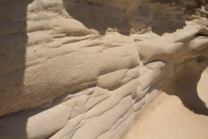 Dettaglio di una roccia, isola Malta fotografie stock