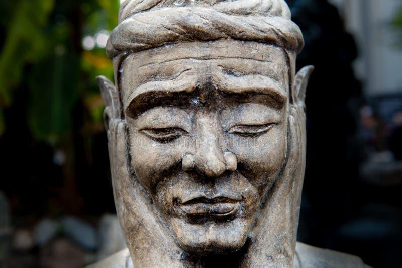 Dettaglio di una statua a Wat Pho Temple, Bangkok fotografia stock