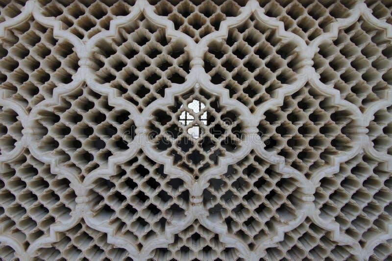 Dettaglio di uno schermo di Jali di Bibi Ka Maqbara fotografie stock libere da diritti