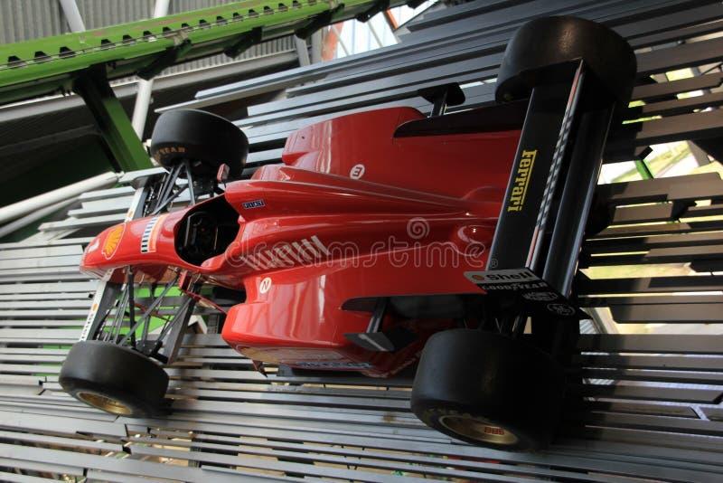 Dettaglio di vecchia automobile di Formula 1, Ferrari in Inghilterra di estate fotografia stock libera da diritti