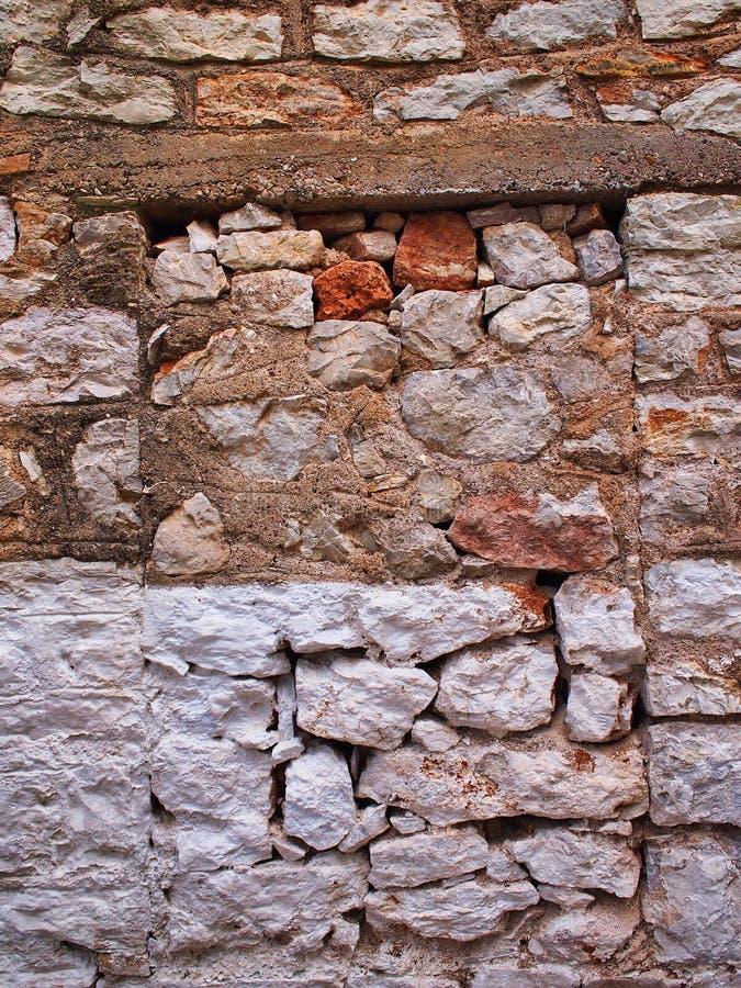 Dettaglio di vecchia parete di pietra della Camera, Grecia fotografia stock