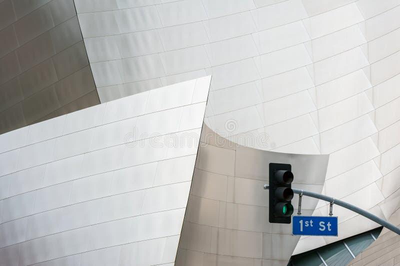 Dettaglio di Walt Disney Concert Hall a Los Angeles fotografie stock libere da diritti