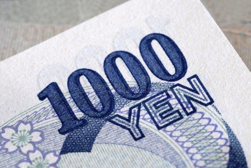 Dettaglio di Yen 1000 fotografia stock libera da diritti