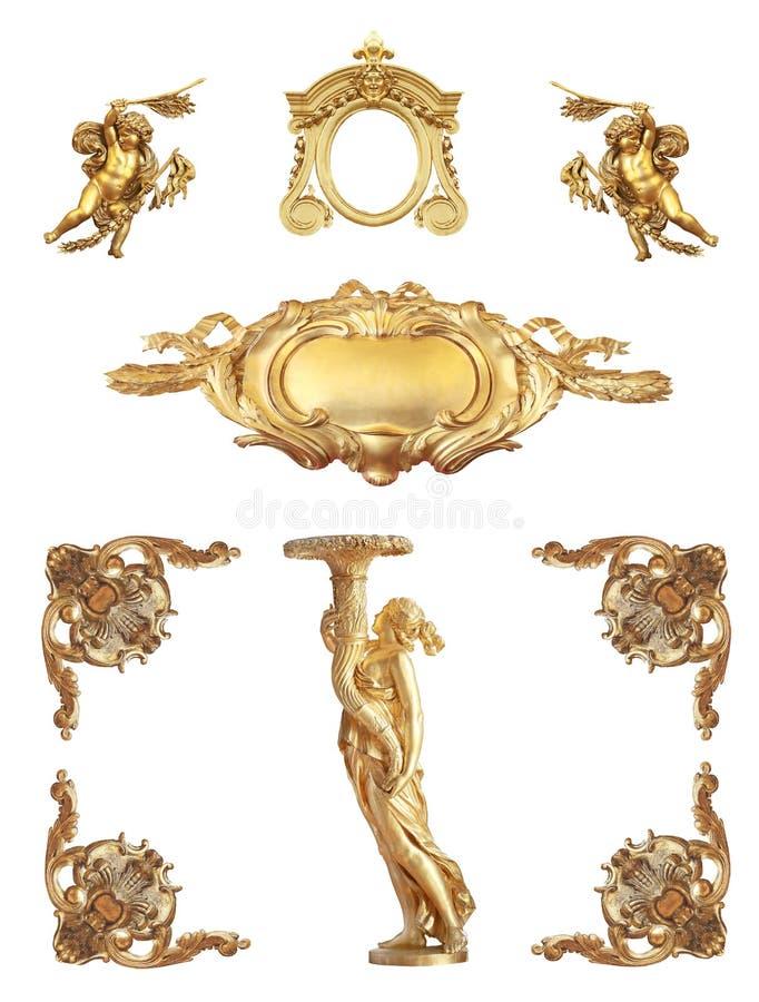 Dettaglio dorato isolato immagine stock